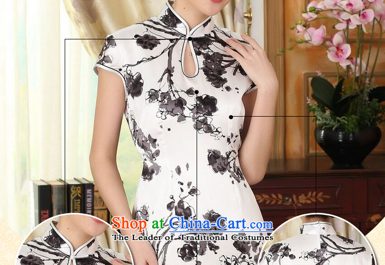 Dan Xia smoke heavyweight silk Retro classic herbs extract improved inkjet ink Elastic satin Sau San double short qipao Figure聽2XL color pictures, prices, brand platters! The elections are supplied in the national character of distribution, so action, buy now enjoy more preferential! As soon as possible.