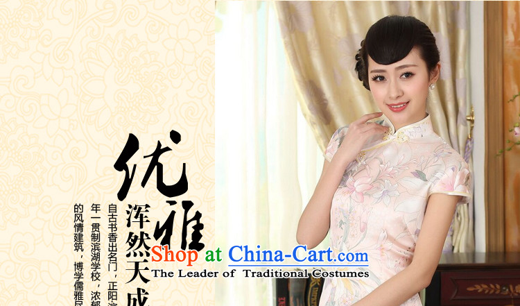 Dan smoke summer female Retro classic contemporary silk herbs extract Elastic satin poster improved double short skirt figure color qipao聽XL Photo, prices, brand platters! The elections are supplied in the national character of distribution, so action, buy now enjoy more preferential! As soon as possible.