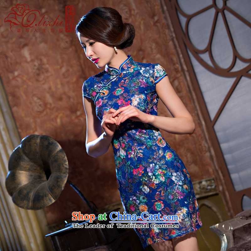 In the former Yugoslavia understand each of Li summer new lace temperament qipao short period of Sau San of daily cheongsam dress?QLZ15Q6070 female?dream-by-?M