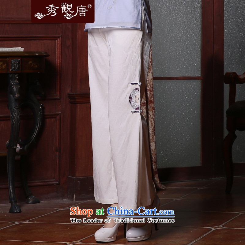 [Sau Kwun Tong] on 2015 Summer of Ms. Tang pants loose ethnic women, white聽XXL, DOWNTILTED Soo-Kwun Tong shopping on the Internet has been pressed.