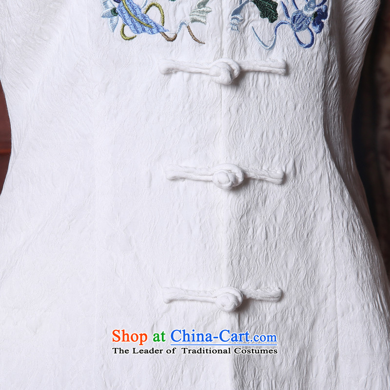 [Sau Kwun Tong] So Ying Summer 2015 Ms. New Tang Dynasty Chinese improved embroidery Tang dynasty blouses White聽XL, Sau Kwun Tong shopping on the Internet has been pressed.