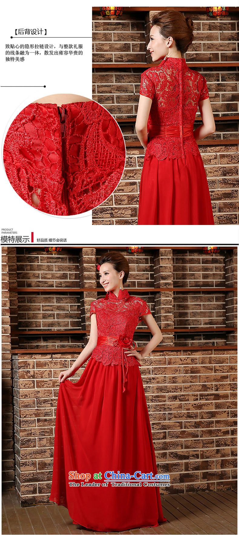 2015 new bride red short-sleeved clothing bows short-sleeved stylish long marriage cheongsam dress Sau San spring and summer RED聽M picture, prices, brand platters! The elections are supplied in the national character of distribution, so action, buy now enjoy more preferential! As soon as possible.
