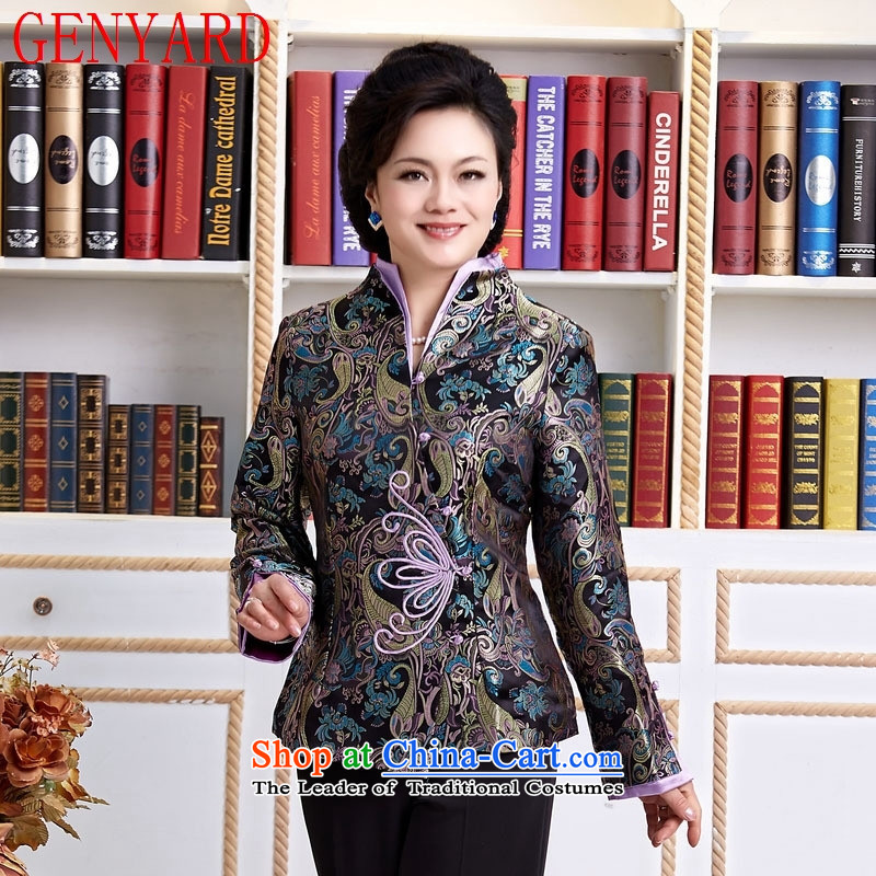 Deloitte Touche Tohmatsu trade in accordance with the contents in spring and autumn shop Tang Tang blouses jacket, the elderly in the Tang dynasty black L