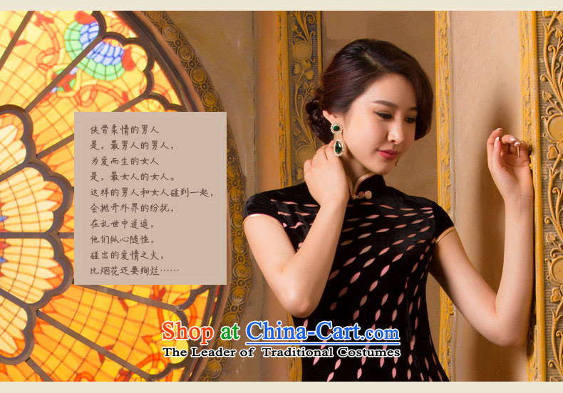Bong-migratory 7475 2015 new retro style qipao daily scouring pads Sau San short-sleeved gown DQ15110 really scouring pads qipao suit XL Photo, prices, brand platters! The elections are supplied in the national character of distribution, so action, buy now enjoy more preferential! As soon as possible.