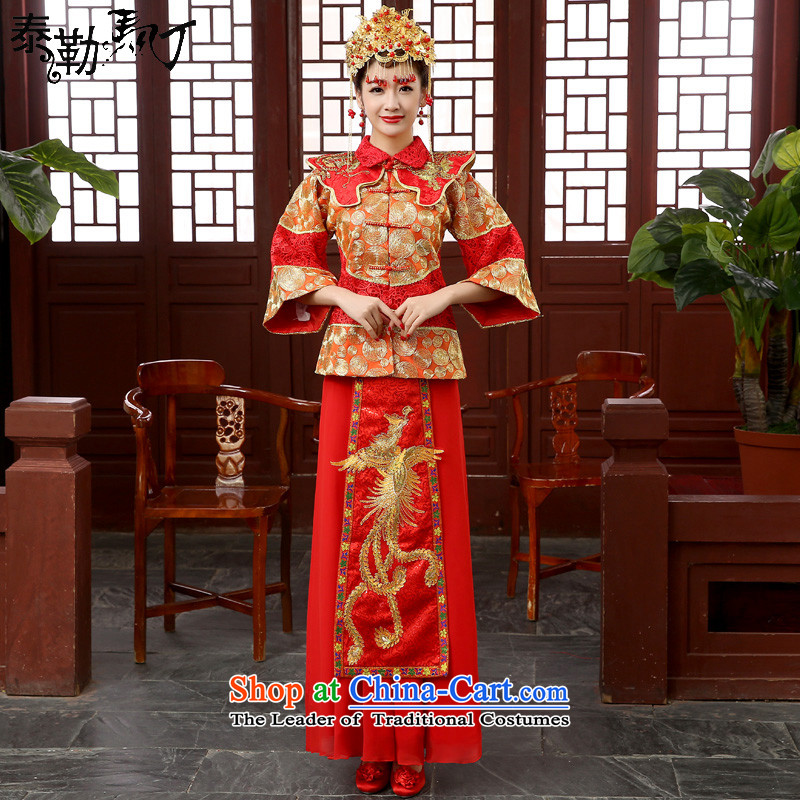 Martin Taylor bride wedding dress bows to Chinese style wedding dresses Sau Wo Service retro longfeng use the wedding dress-hi-load model with ancient_ Head Ornaments燲XL