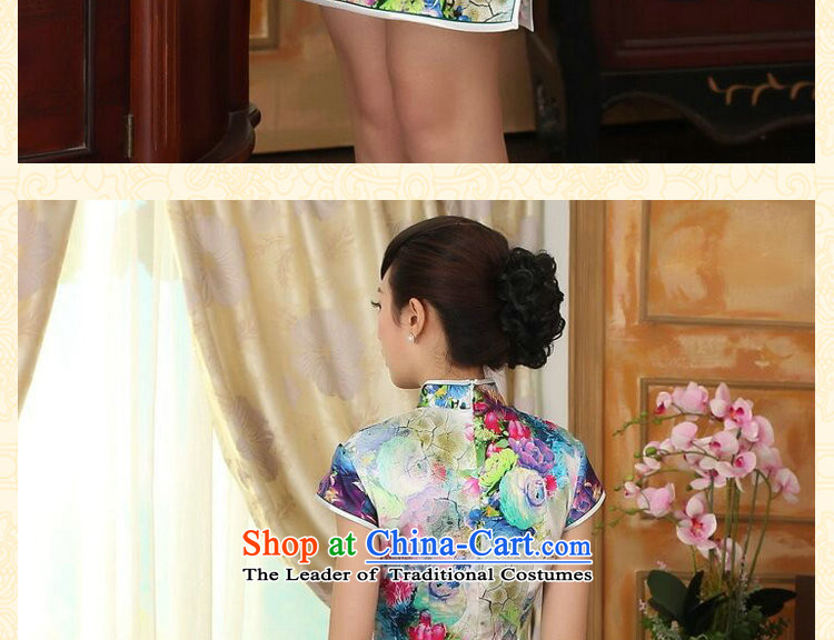 Dan smoke summer female qipao heavyweight silk Retro classic herbs extract poster stretch of Sau San double short qipao Figure Color聽S picture, prices, brand platters! The elections are supplied in the national character of distribution, so action, buy now enjoy more preferential! As soon as possible.