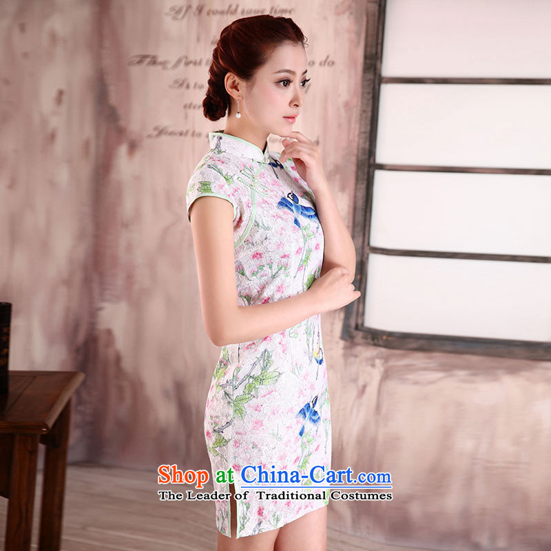 燭he spring of the new millennium the bride 2015 new antique dresses temperament Ms. lace etiquette clothing improved stylish short of daily qipao X161 Ligao Qi Junyan Hsichih燲L