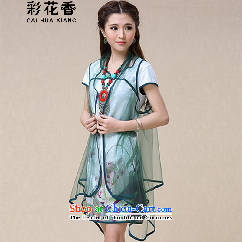 The fragrance of the爏pring and summer of 2015, also replace the girl China wind ethnic cheongsam dress 8,958 pictures color燬