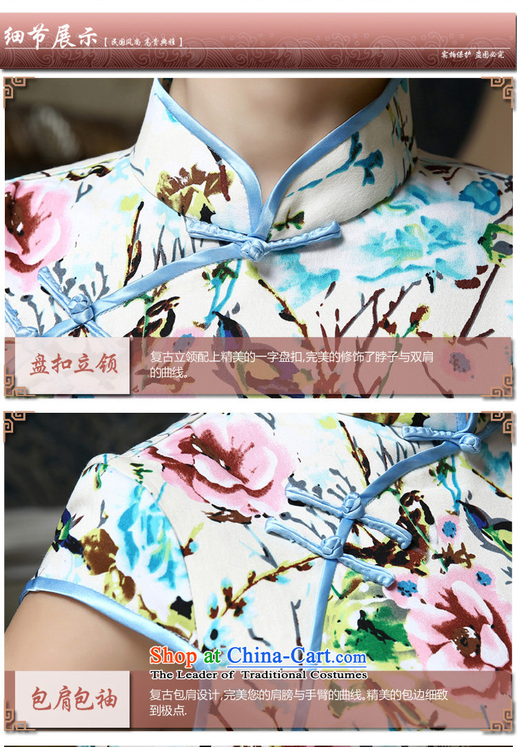 In the聽summer of 2015, Friends new improved daily qipao classic retro style qipao temperament Sau San silk thick pc stamp short skirt聽Q423 qipao聽picture quality assurance, prices, brand platters! The elections are supplied in the national character of distribution, so action, buy now enjoy more preferential! As soon as possible.