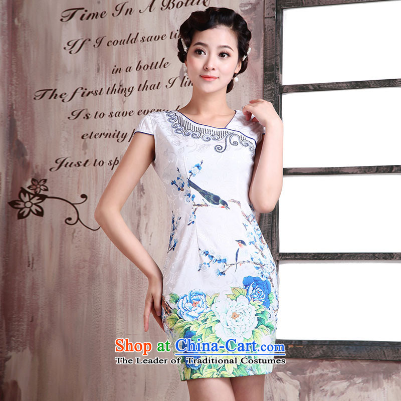 Millennium bride in爏pring and autumn 2015 new cheongsam summer improved retro short-sleeved short of Sau San stylish and elegant qipao female dresses X2029 Uzbekistan economy燬