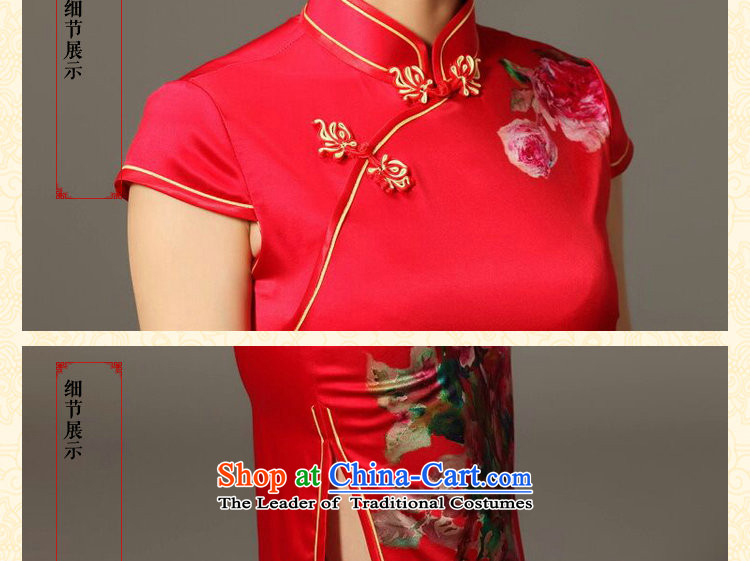 Dan smoke summer New President Dos Santos Silk Cheongsam digital inkjet stretch back door bows service Elegant Silk Cheongsam Figure Color聽S picture, prices, brand platters! The elections are supplied in the national character of distribution, so action, buy now enjoy more preferential! As soon as possible.