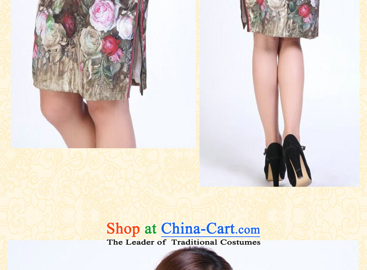 Ms. summer floral qipao heavyweight silk digital inkjet qipao stylish and simple elastic herbs extract short qipao Figure Color聽S picture, prices, brand platters! The elections are supplied in the national character of distribution, so action, buy now enjoy more preferential! As soon as possible.