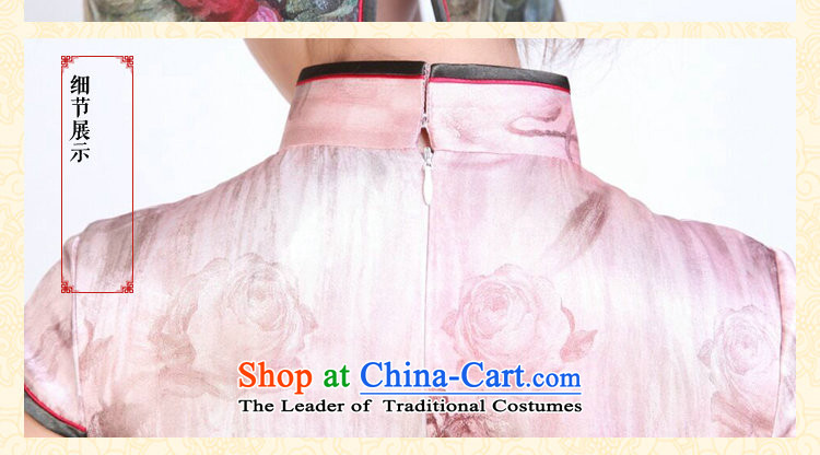 Dan smoke Ms. summer qipao heavyweight silk digital inkjet qipao stylish and simple elastic herbs extract short qipao Figure Color聽S picture, prices, brand platters! The elections are supplied in the national character of distribution, so action, buy now enjoy more preferential! As soon as possible.