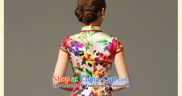 Dan smoke summer Ms. new heavyweight Silk Cheongsam improved retro elegant collar herbs extract cheongsam dress聽3XL figure color pictures, prices, brand platters! The elections are supplied in the national character of distribution, so action, buy now enjoy more preferential! As soon as possible.