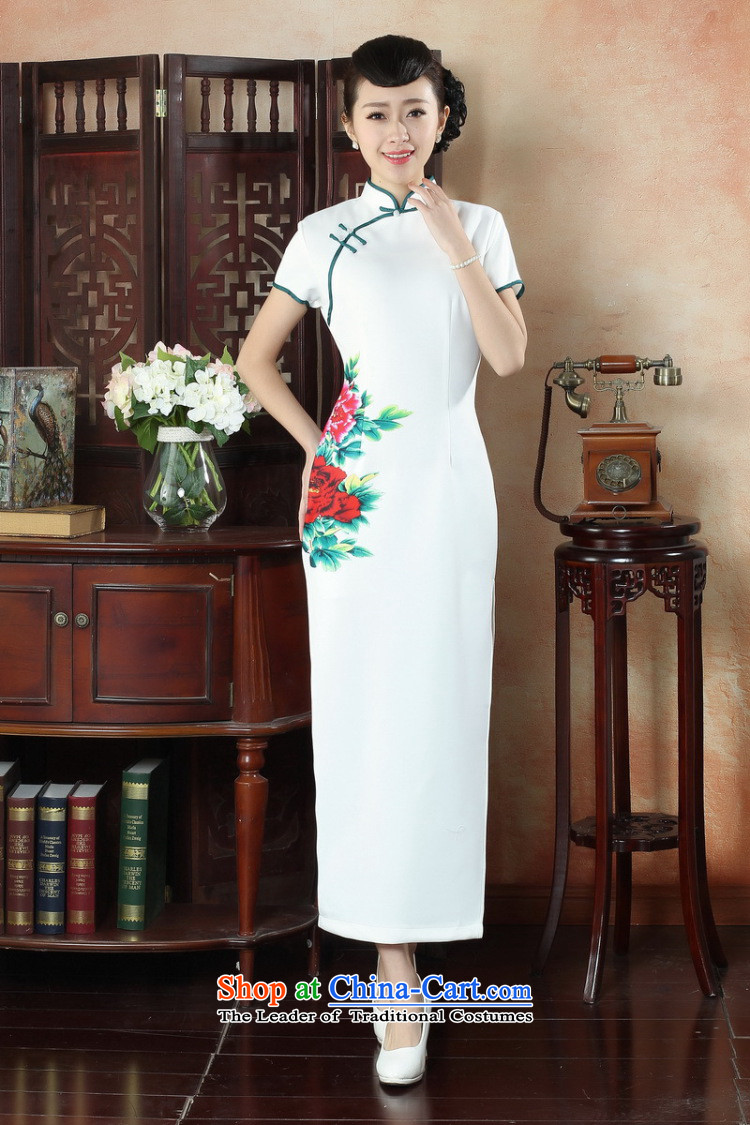 Dan Xia, ethnic smoke dress cheongsam dress stylish improved Chinese collar hand-painted retro long cheongsam dress Figure聽2XL color pictures, prices, brand platters! The elections are supplied in the national character of distribution, so action, buy now enjoy more preferential! As soon as possible.