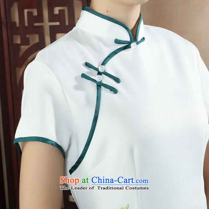 Dan Xia, ethnic smoke dress cheongsam dress stylish improved Chinese collar hand-painted retro long cheongsam dress Figure Color聽2XL, Dan Smoke , , , shopping on the Internet