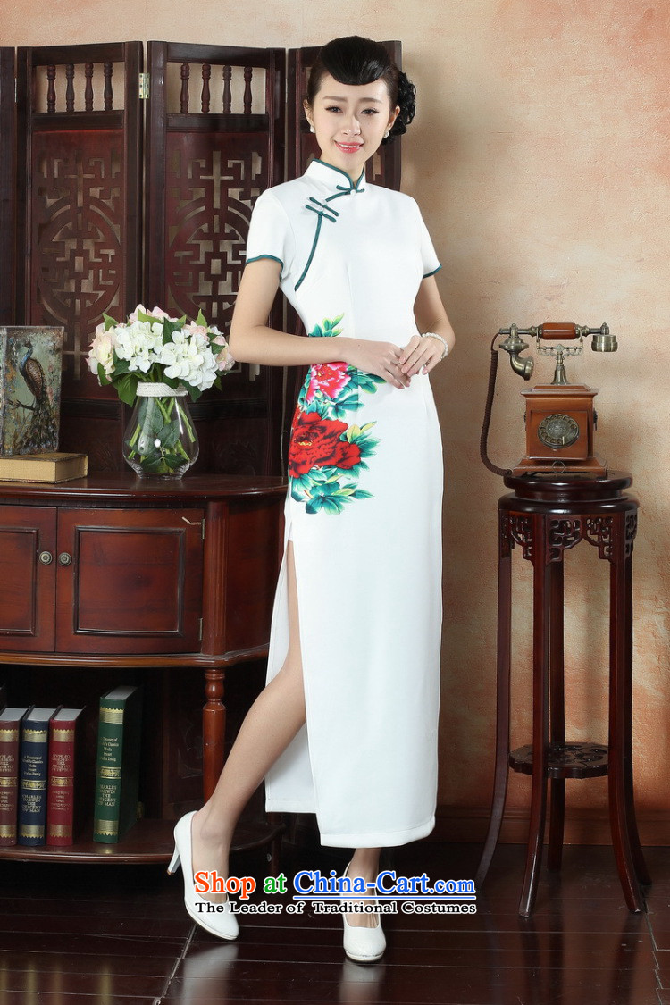 Find Sophie summer, ethnic dress cheongsam dress stylish improved Chinese collar hand-painted retro long cheongsam dress figure colorL picture, prices, brand platters! The elections are supplied in the national character of distribution, so action, buy now enjoy more preferential! As soon as possible.