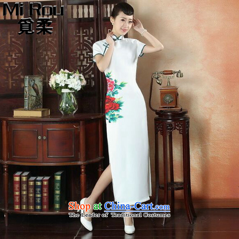 Find Sophie summer, ethnic dress cheongsam dress stylish improved Chinese collar hand-painted retro long cheongsam dress figure colorL, find Sophie , , , shopping on the Internet