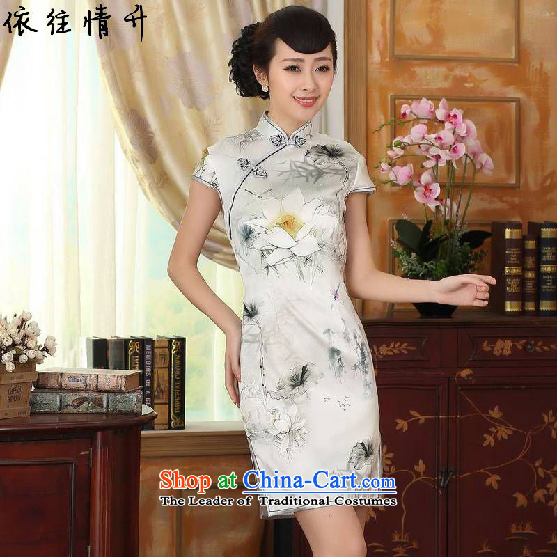 In accordance with the Love l Chinese improved Couture fashion daily Tang dynasty new retro ethnic short of Tang Dynasty cheongsam dress燣GD_Z0007_爁igure燲L