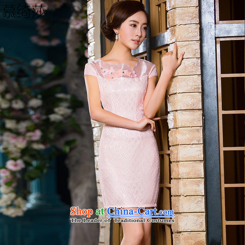The cross-sa kiyomasa new lace noble and elegant and stylish short of qipao dresses qipao summer daily improved� QD 163 S