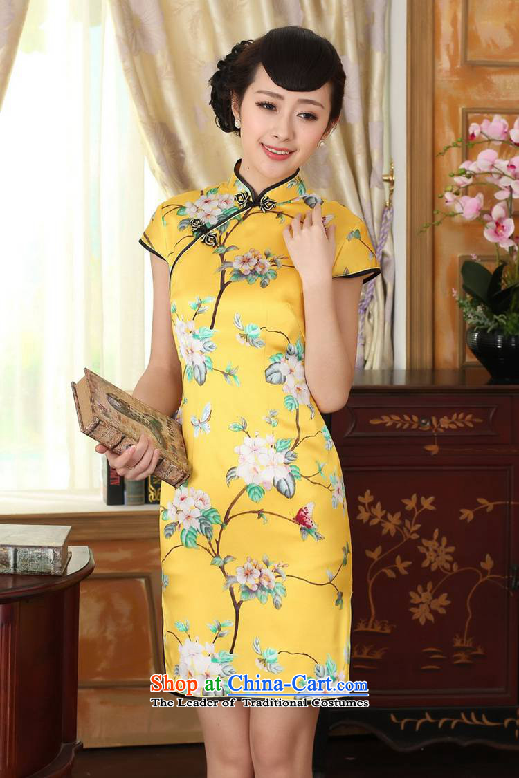 In accordance with the new l love women improved national wind retro Tang dynasty collar ramp up short of Sau San Tong replacing cheongsam dress聽Lgd/z0016#聽Yellow聽2XL Photo, prices, brand platters! The elections are supplied in the national character of distribution, so action, buy now enjoy more preferential! As soon as possible.