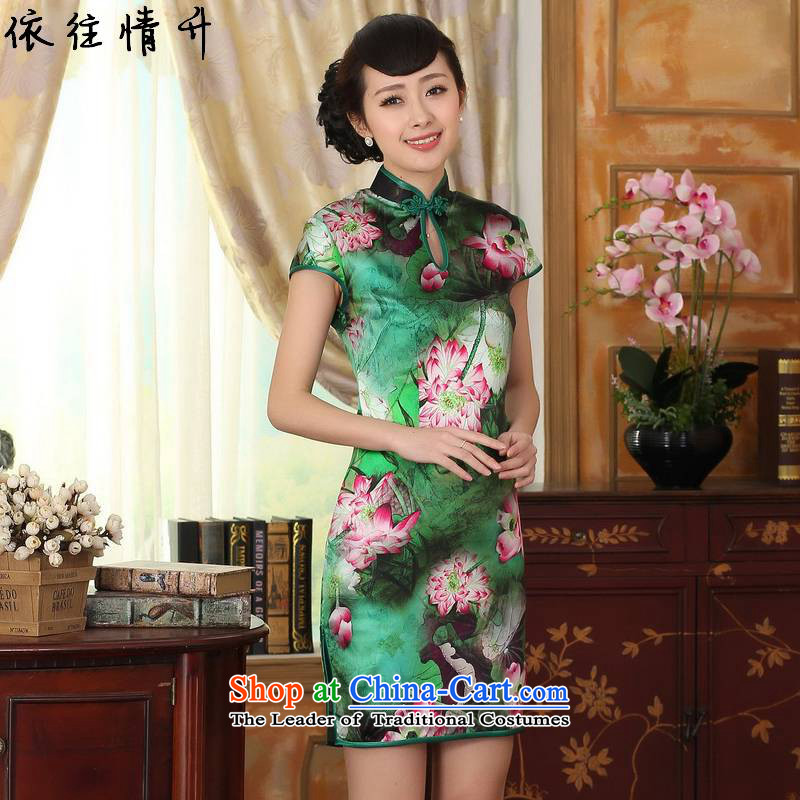 In accordance with the new l love retro improved Chinese Dress is pressed a mock-neck design of Sau San Tong load short-sleeved qipao skirt燣GD_Z0002_爁igure燬