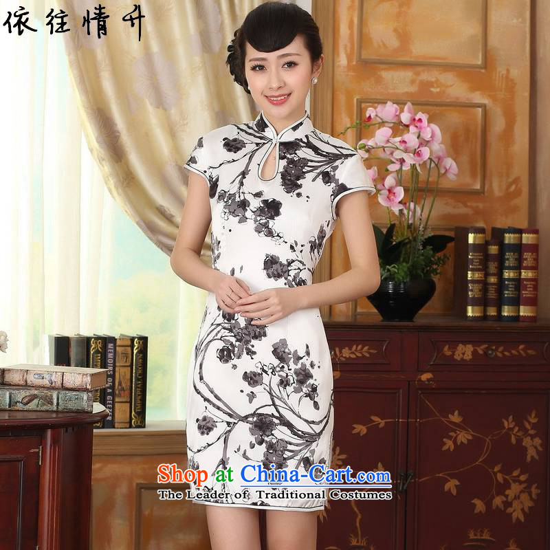 In accordance with the new l love women retro ethnic Tang dynasty Mock-neck Poster Sau San Tong replacing QIPAO_ short skirt聽LGD_Z0015_聽figure聽M