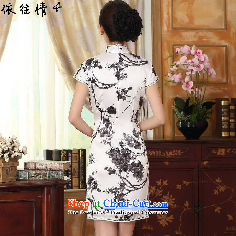 In accordance with the new l love women retro ethnic Tang dynasty Mock-neck Poster Sau San Tong replacing QIPAO) short skirt聽LGD/Z0015#聽figure聽in love L M , , , shopping on the Internet