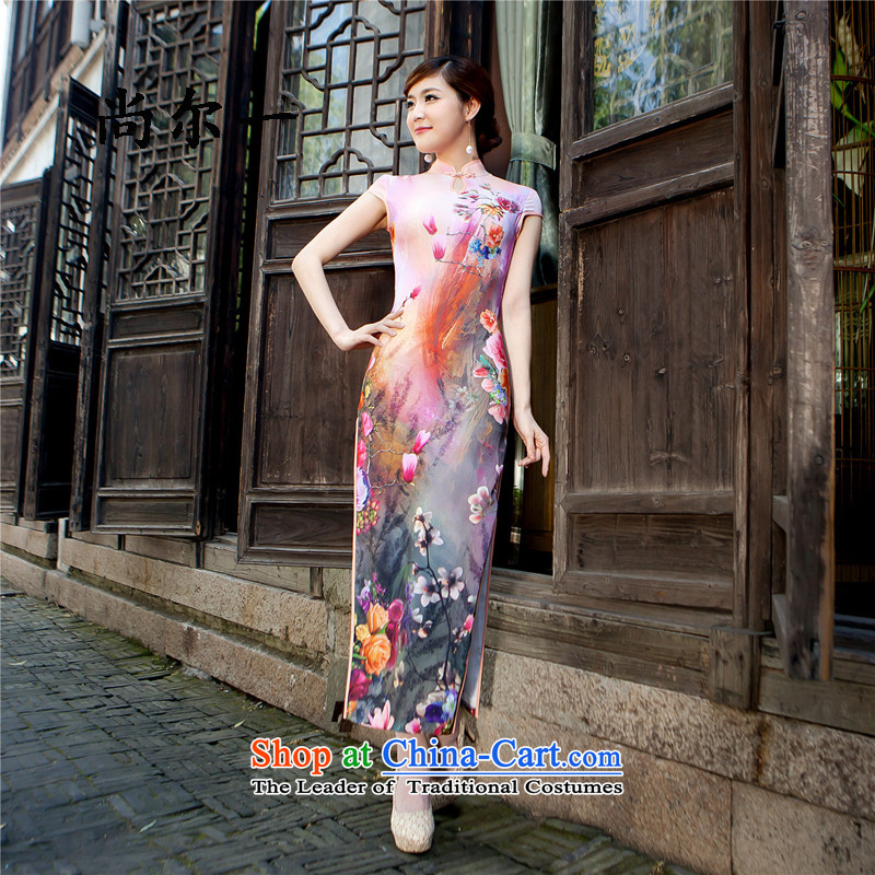 Yet a new summer, Upscale modern-day improved long modal qipao Sau San antique dresses long skirt 5206 rose?L