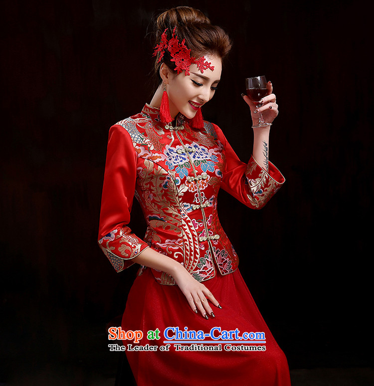 Pure Love bamboo yarn-soo Wo Service 2015 new high-end marriages qipao retro bows service kit qipao spring length of Chinese wedding dress RED M picture, prices, brand platters! The elections are supplied in the national character of distribution, so action, buy now enjoy more preferential! As soon as possible.