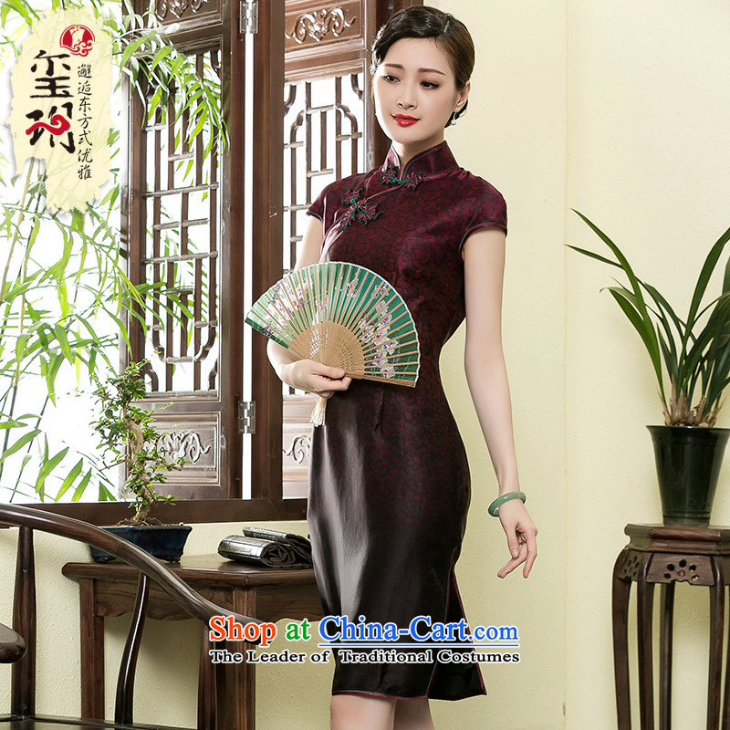 The seal of the Summer 2015 new cloud of incense yarn gradient. Long qipao Chinese banquet girls improved elegant dresses picture color?S
