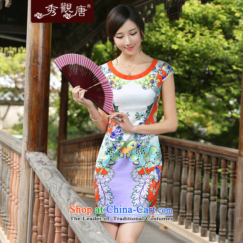 -Sau Kwun Tong- cloud dance improved cheongsam dress聽2015 Summer new retro ethnic women聽s suits