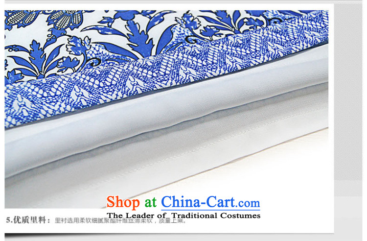 [Sau Kwun Tong] blueberries antique porcelain qipao聽2015 Summer new improved stylish skirt suits聽XL Photo, prices, brand platters! The elections are supplied in the national character of distribution, so action, buy now enjoy more preferential! As soon as possible.