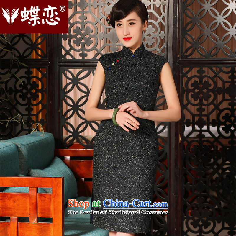 The Butterfly Lovers 2015 Summer new improved stylish cheongsam dress daily retro floral cotton qipao 54228 SAIKA?S