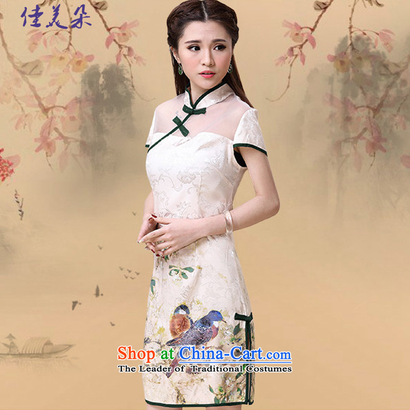 Jia Mei flower� spring and summer 2015 new ethnic Sau San elegant dresses cheongsam dress 8952_ map color燤