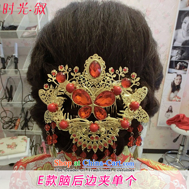 Time Syrian brides costume Head Ornaments Classical Chinese qipao edging Bong-sam Hui-soo Wo Service Wedding Dress Ornaments of accessories costume marriage solemnisation Accessories?E