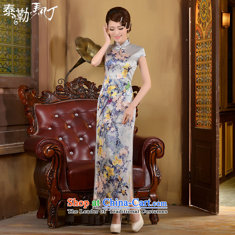 Martin Taylor qipao shirt spring and summer 2015, the new president of nostalgia for Sau San video thin Foutune of qipao stylish ethnic White聽XXL