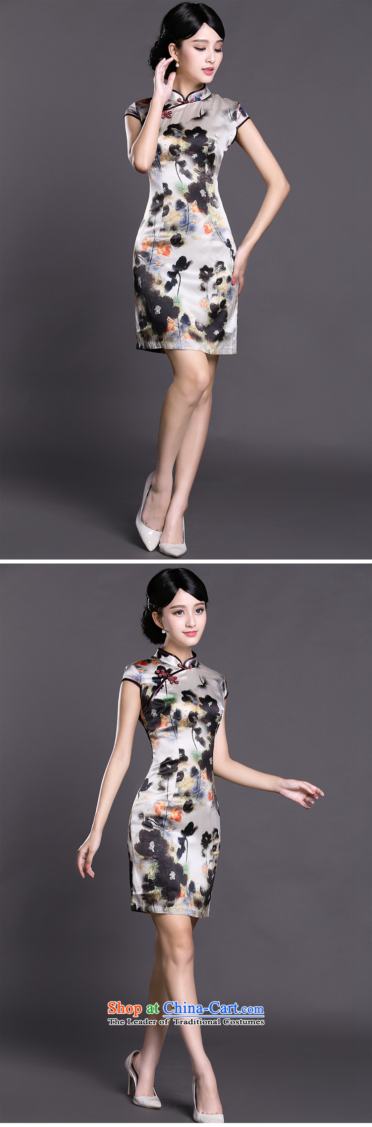 Joe was aristocratic Silk Cheongsam look to improve women's clothes ZS030 Tang White聽XXL picture, prices, brand platters! The elections are supplied in the national character of distribution, so action, buy now enjoy more preferential! As soon as possible.