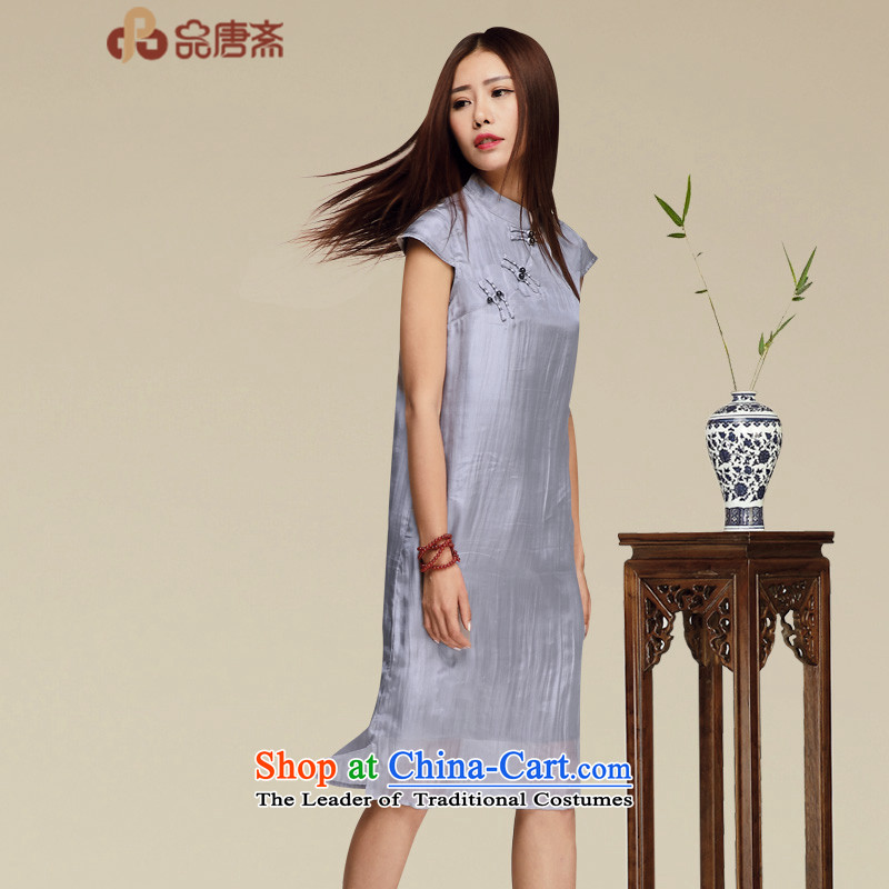 No. of Ramadan improved qipao Tang 2015 new summer herbs extract retro cheongsam dress upscale heavyweight silk cheongsam dress photo color?XL