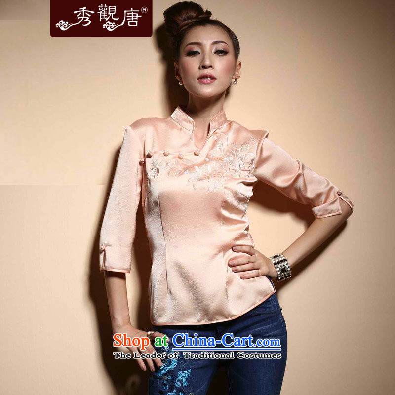 [Sau Kwun Tong] Tang dynasty smiling President in spring?2015, the cuff China wind female qipao TC3820 shirt L
