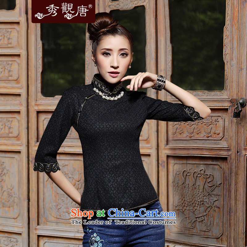 Sau Kwun Tong Spring Night Tang Dynasty, 2015 New China wind female qipao shirt M