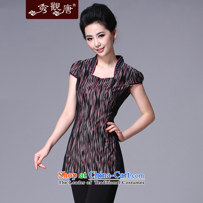-Sau Kwun Tong- also following edge Tang dynasty qipao Ms. Tang Dynasty Clothes Summer_ethnic stylish Chinese improved聽S