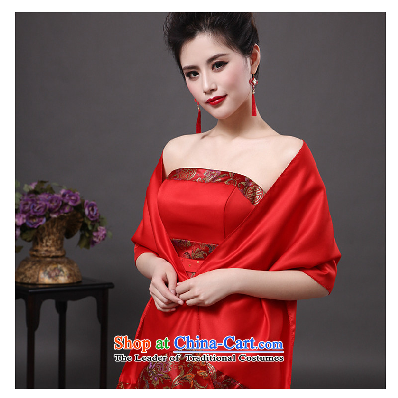 The first white into about?2015 new drink service long red wedding crowsfoot bride cheongsam dress marriage spring, Red?M