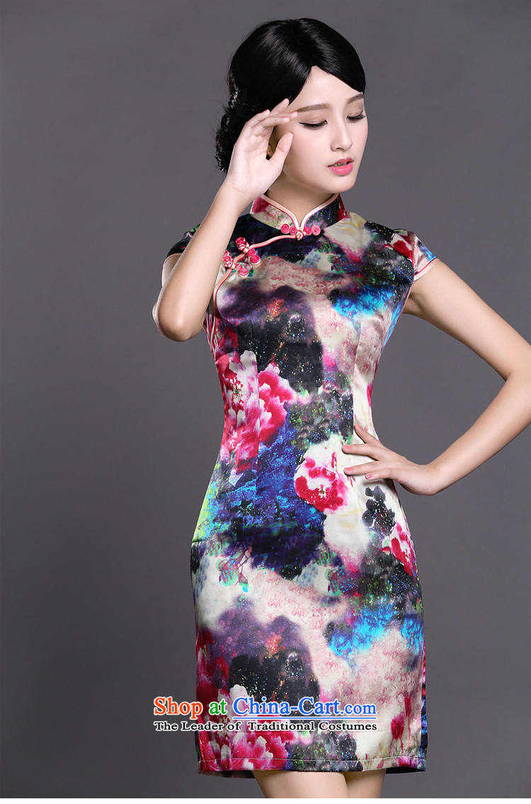 Joe was aristocratic ladies cheongsam look like silk new summer of Chinese Dress ZS057 RED聽XXL picture, prices, brand platters! The elections are supplied in the national character of distribution, so action, buy now enjoy more preferential! As soon as possible.