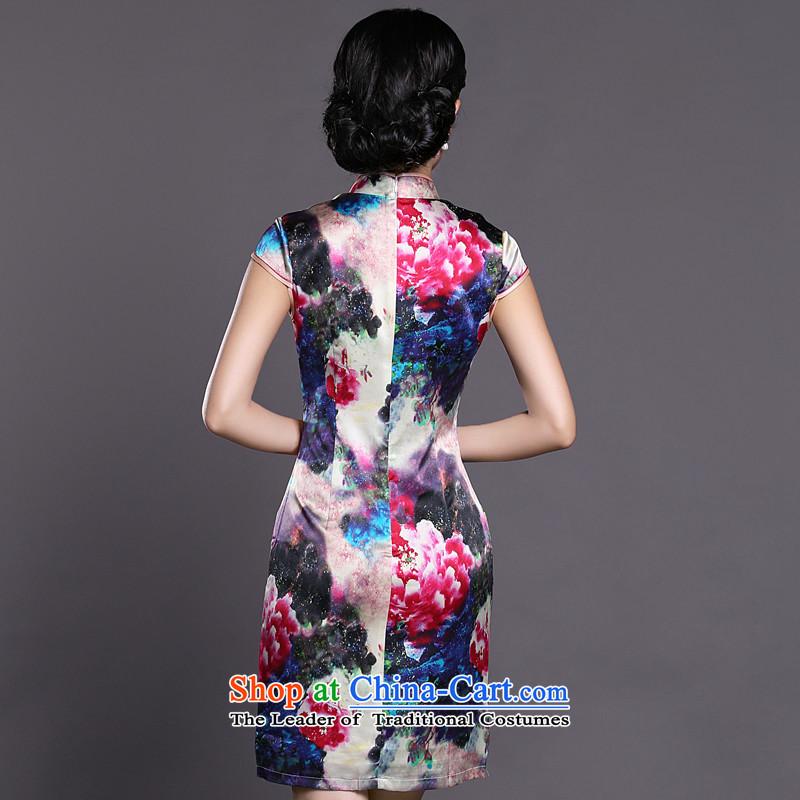Joe was aristocratic ladies cheongsam look like silk new summer of Chinese Dress ZS057 RED聽XXL,CHOSHAN LADIES,,, shopping on the Internet
