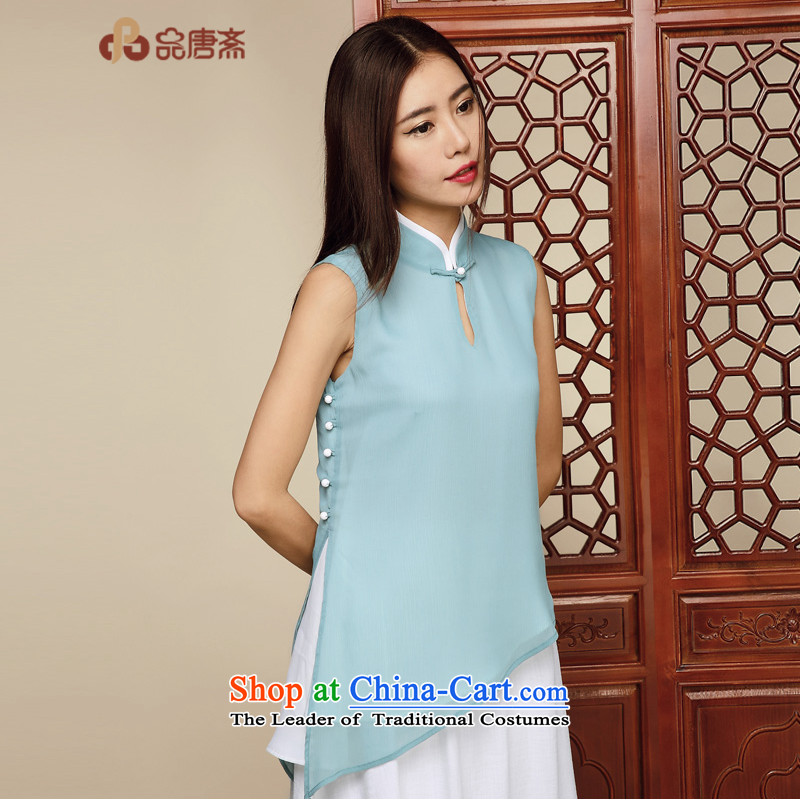 No. of Ramadan 2015 Summer Tang new chiffon shirt female Tang dynasty China Wind Jacket Color pictures qipao�XL