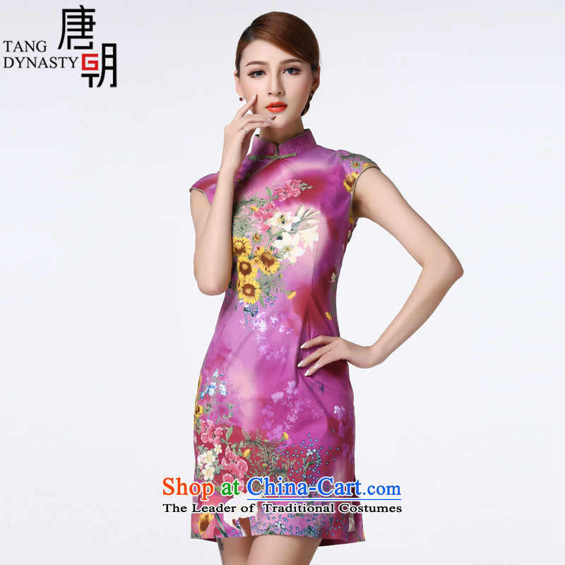 The Tang dynasty, forming the sexy daily improved Chinese Disc detained suit short skirt girls cheongsam dress TXF41119 first floor lily?XL