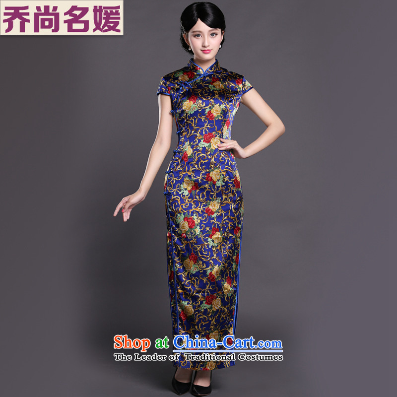 Joe was aristocratic wedding banquet cheongsam dress with mother long heavyweight silk skirt CKZS003 SUIT聽L
