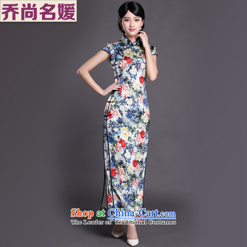 Joe was aristocratic heavyweight silk cheongsam dress long wedding MOM pack CKZS006 SUIT聽XXL