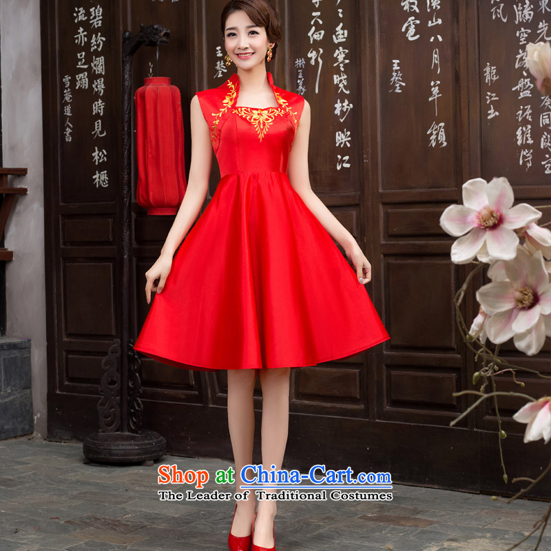 Short of porcelain qipao etiquette services red white blue qipao Olympic etiquette Welcome to Red?XL